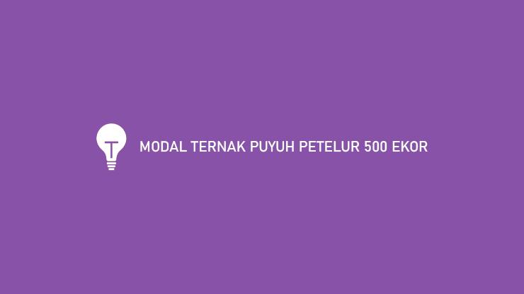 Modal Ternak Puyuh Petelur 500 Ekor